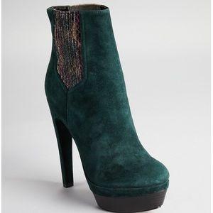 Rachel Zoe Audrey platform turquoise bootie 7.5